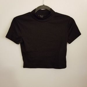 Forever 21 Black High-Neck Crop Top NWT